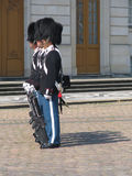 Danish Royal Guardsmen. Soldiers on Parade Royalty Free Stock Image