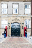 Danish Royal Life Guard posted at Amalienborg Palace in Copenhag Stock Photography