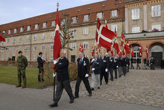 DANISH ROYAL QUEENS GUARDS Stock Images