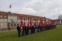 DANISH ROYAL QUEENS GUARDS Royalty Free Stock Photo