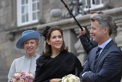 DANISH ROYALS AT DANISH PARLIAMEN OPENING Royalty Free Stock Photography