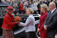 DANISH ROYALS AT DANISH PARLIAMEN OPENING Stock Images
