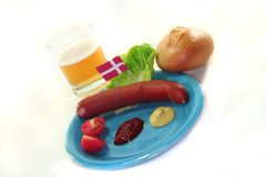 Danish sausage Stock Photo