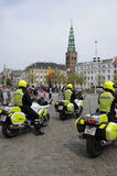 DANISH SECURITY POLICE ESCORTS PREISENT O LATVIA Royalty Free Stock Images