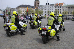 DANISH SECURITY POLICE ESCORTS PREISENT O LATVIA Royalty Free Stock Photography
