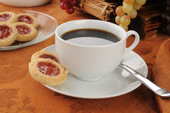 Danish shortbread cookies and coffee Royalty Free Stock Photo