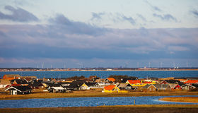 Danish sommer houses at the west Royalty Free Stock Image