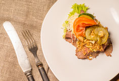 Danish specialties and national dishes, high-quality open sandwich Stock Photography