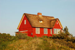 Danish Summer House. Wooden Summer House in Denmark Stock Photos