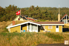 Danish Summer House. Wooden Summer House in Denmark royalty free stock photography