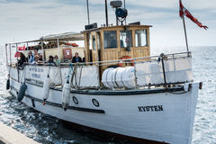 Danish summer tour boat Royalty Free Stock Images