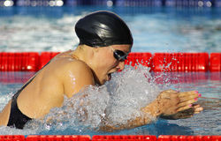 Danish swimmer Rikke Moller Pedersen Stock Photography