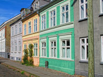 Danish urban houses Royalty Free Stock Photos