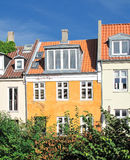 Danish urban houses Royalty Free Stock Image