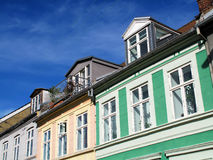 Danish urban houses Royalty Free Stock Photography