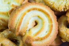 Danish Vanilla Butter Cookies macro Stock Image