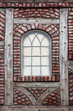 Danish Window. Window on a Danish brick and timber building stock photography