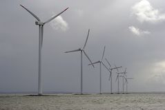 Danish Windpark Stock Photo