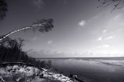 Danish winter beach Royalty Free Stock Images