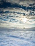 Danish winter landscape Royalty Free Stock Image