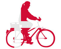 Danish woman on bike Royalty Free Stock Photography