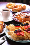Danishes Assorted Imagem de Stock Royalty Free