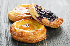 Danishes de fruit Photographie stock
