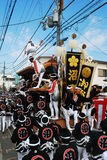 danjiri节日kishiwada 库存照片