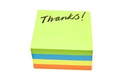 Dank-Anmerkung Stockbild