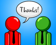 Dank-Gespräch stellt Zettel Chat und Chinwag dar Lizenzfreies Stockbild