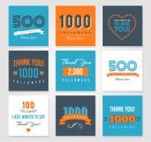 Dank u aanhangers, kentekens, stickers en etiketten stock foto's