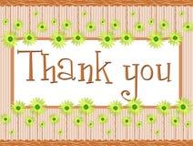 Dank u banner met bloemenfantasie Royalty-vrije Stock Afbeelding