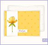 Dank u bloemenkaart Stock Afbeeldingen