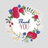 Dank u giftkaart Stock Fotografie