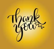 Dank u - Hand geschetste het van letters voorzien typografie Getrokken de hand dankt u van letters voorziend teken Kenteken, pict royalty-vrije illustratie