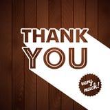 Dank u kaarden met typografie op een houten achtergrond. Royalty-vrije Stock Foto