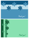 Dank u kaarten Stock Fotografie