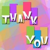 Dank u Kleurrijke Achtergrond Royalty-vrije Stock Foto's