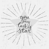 DANK U overhandigen het getrokken van letters voorzien Royalty-vrije Stock Foto