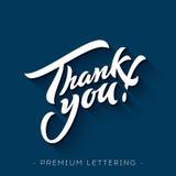 Dank u overhandigen het van letters voorzien Stock Afbeelding
