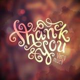Dank u overhandigen het van letters voorzien Royalty-vrije Stock Afbeelding