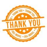 Dank u stempelen Het gele Vectorkenteken van Eps10 stock illustratie