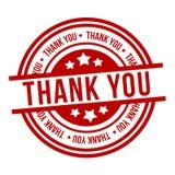 Dank u stempelen Rood kenteken stock illustratie