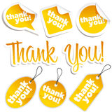 Dank u Stickers en Markeringen Stock Fotografie