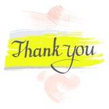 Dank u, vector Hand het getrokken inkt van letters voorzien Royalty-vrije Stock Afbeeldingen