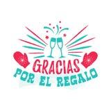 Dank u voor de Gift - Spaans-Taal Stock Foto