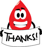 Dank u voor uw bloeddonatie stock afbeeldingen