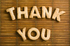 Dank u Woorden met Eigengemaakte Koekjesbrieven Royalty-vrije Stock Fotografie
