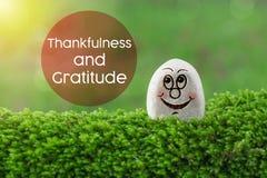 Dankbarkeit und Dankbarkeit lizenzfreies stockfoto
