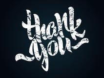 Danke Beschriftung Die geschriebene Hand danken Ihnen Plakat Moderne Hand Stockbilder